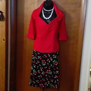 Pin Up Couture 2 Piece Skirt XL Top Large
